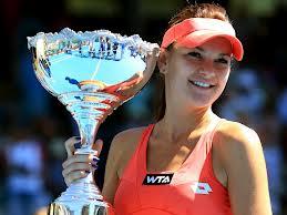 Radwanska with trophy